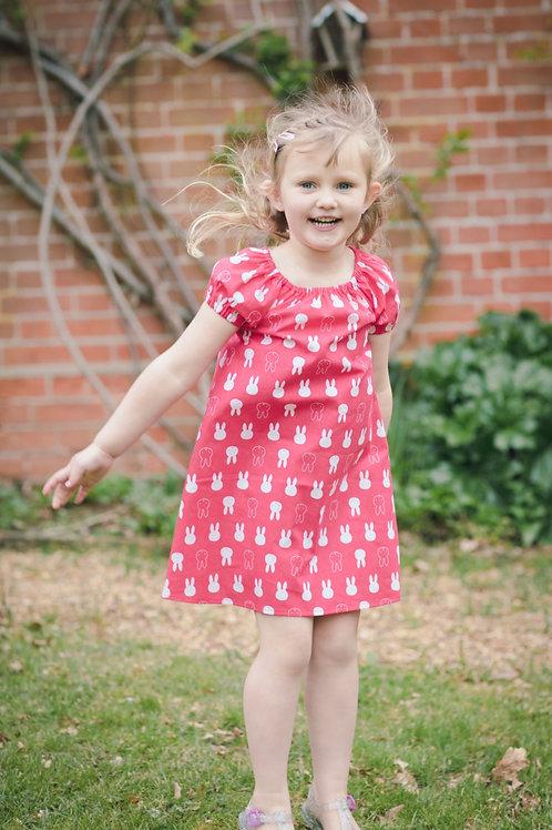 Miffy print flutter dress