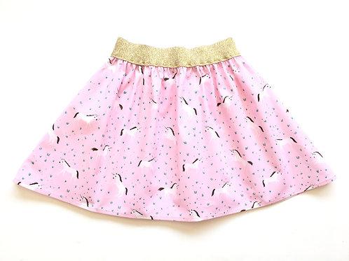 Pink Flared Unicorn Skirt