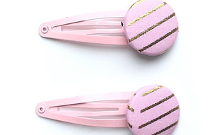 flower print hair slides, hair clips for girls