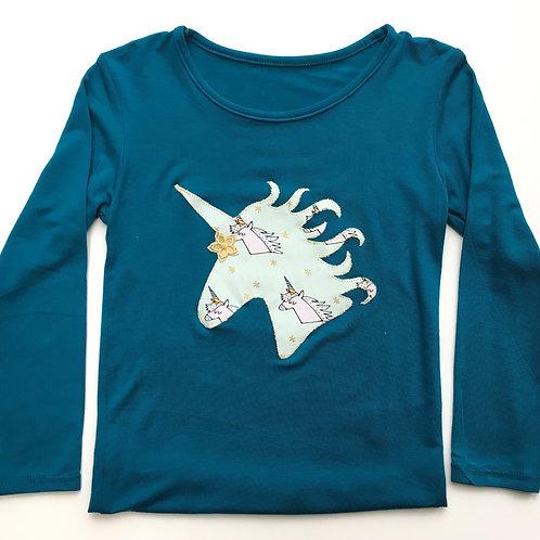 Unicorn Appliqued T-shirt