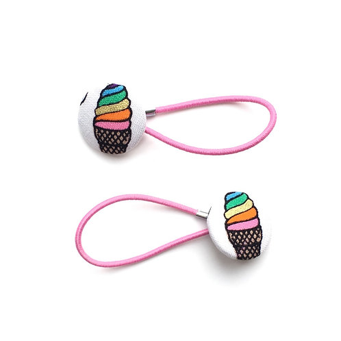 Ice Cream Hair Ties