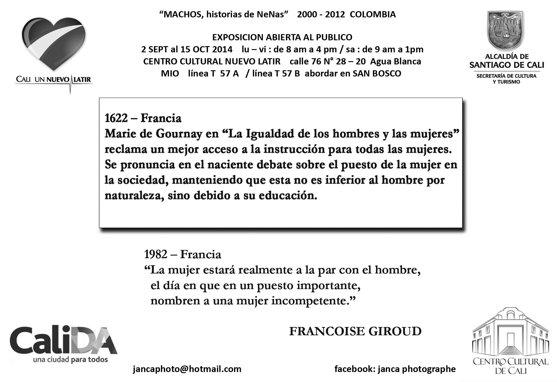 retiro POSTALES  CALI  FRANCOISE GIROUD  7