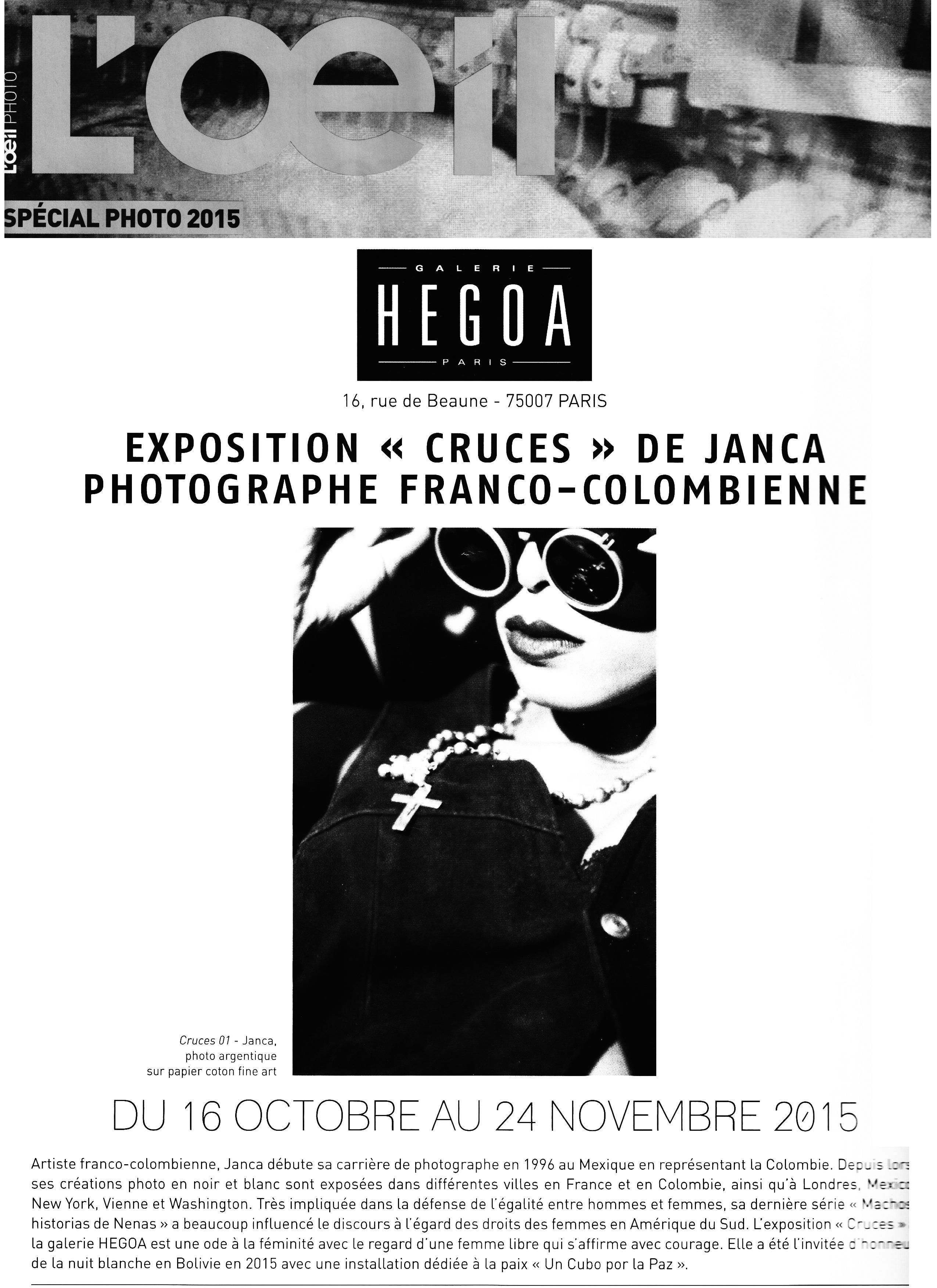 2O15 - PARIS - L oeil Photo c