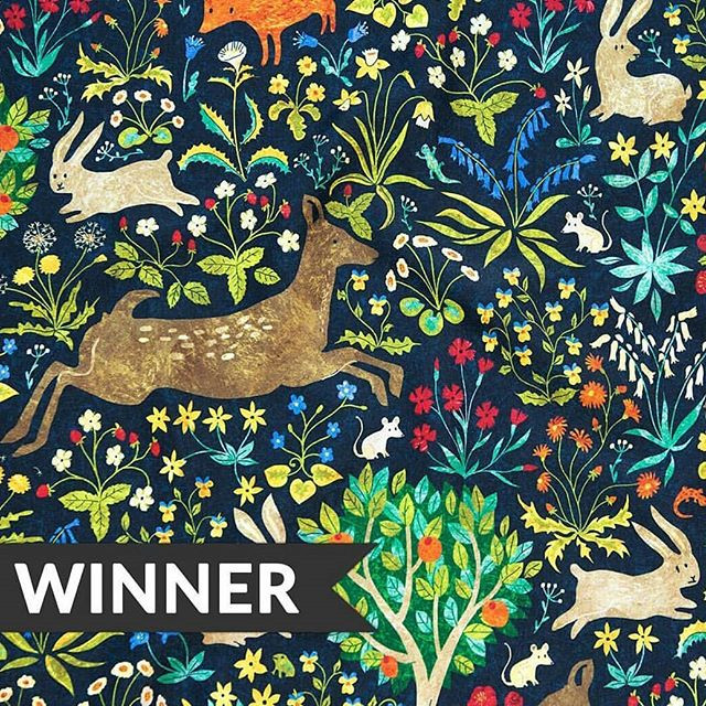 My medieval tapestry design is the Winner of the Animals by Land  challenge! Evviva! I'm sooo happy! Thank you very much to everyone support