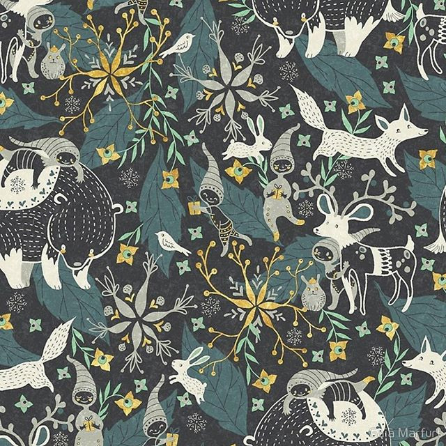 This is a dark version of the last pattern...jpgavailable as fabric, giftwrap or wallpaper on my Spoonflower shop, and on Redbubble products.jpg