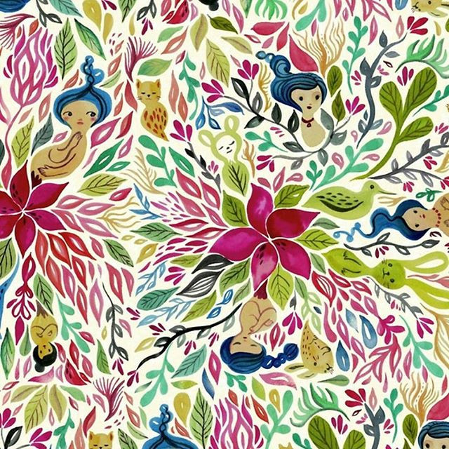 My watercolor became a repeatable pattern and it is now available on Redbubble...jpg