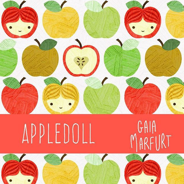 This is my pattern for the Spoonflower weekly Prompt about apples_#apple #fabricaddict #fabric #spoonflowercontest #spoonflower #textiledesi