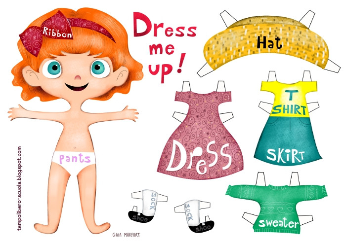english learning: dress me up girl