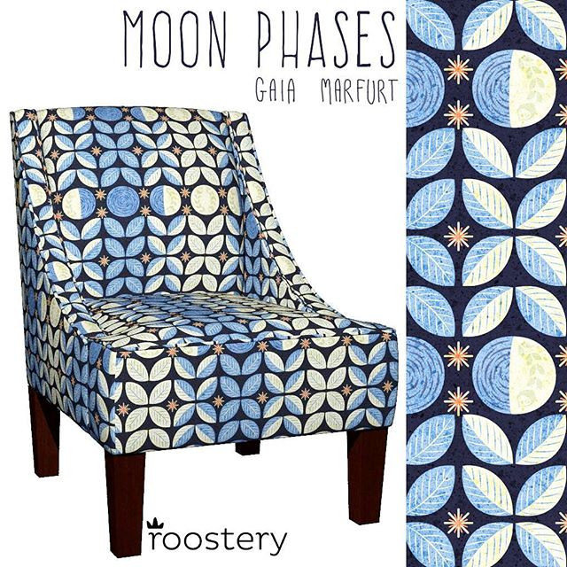 My moonphases pattern available as fabric on Spoonflower...jpg