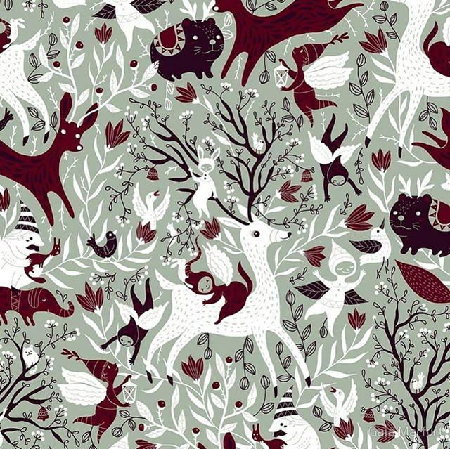 This is my entry for the Elegant Holiday Limited Color Palette challenge on Spoonflower.jpg