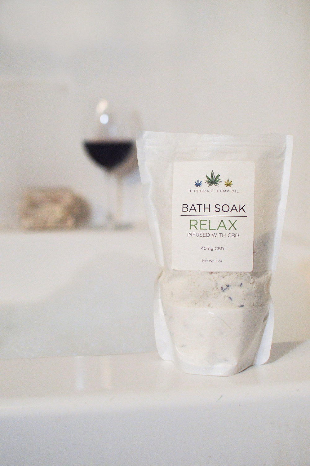 Bluegrass Hemp Oil Relax CBD Bath Soak