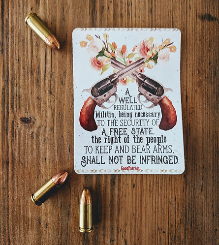2nd Amendment Pretty Pistols Sticker