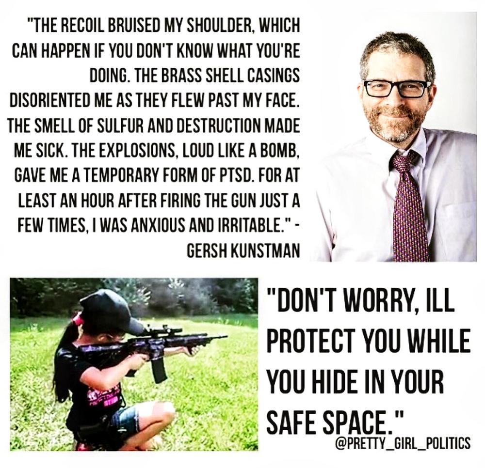 Gersh Kunstman is scared of guns