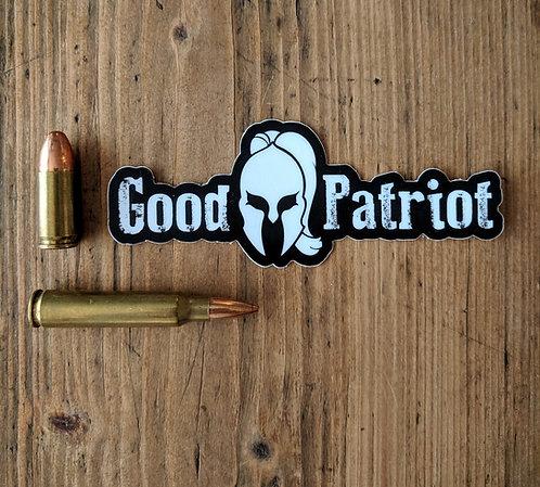 """""""Good Patriot Spartan"""" - Sticker"""