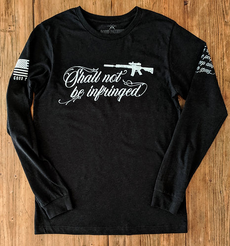 """Shall Not"" Long Sleeve - Heathered Black"