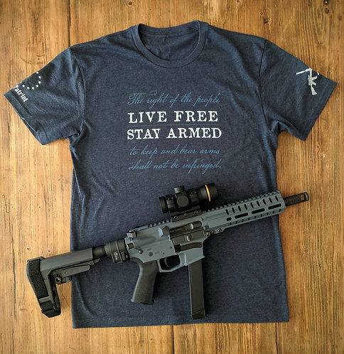 Live Free - STAY ARMED - Navy