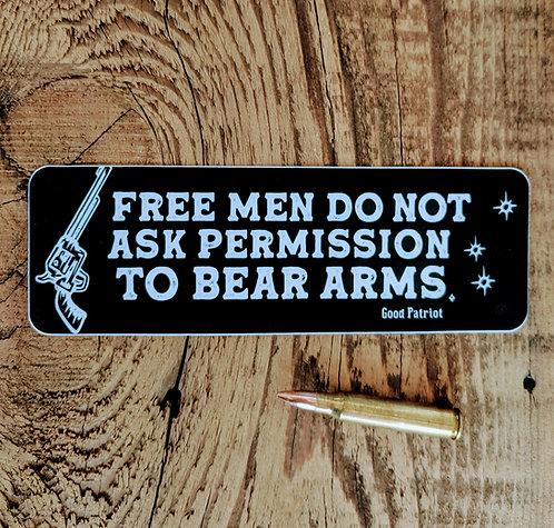 Free Men Do Not Ask - Sticker