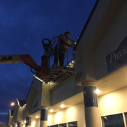 Christmas light installation, Richland WA