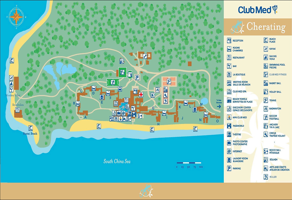 Clubmed Cherating Resort Map