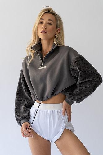 Cropped Zip Sweatshirt