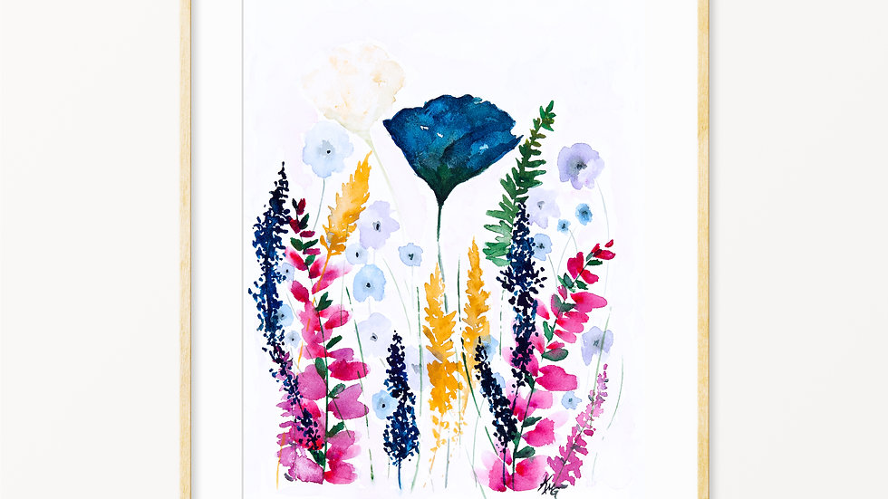 Wildflowers- Watercolor Print