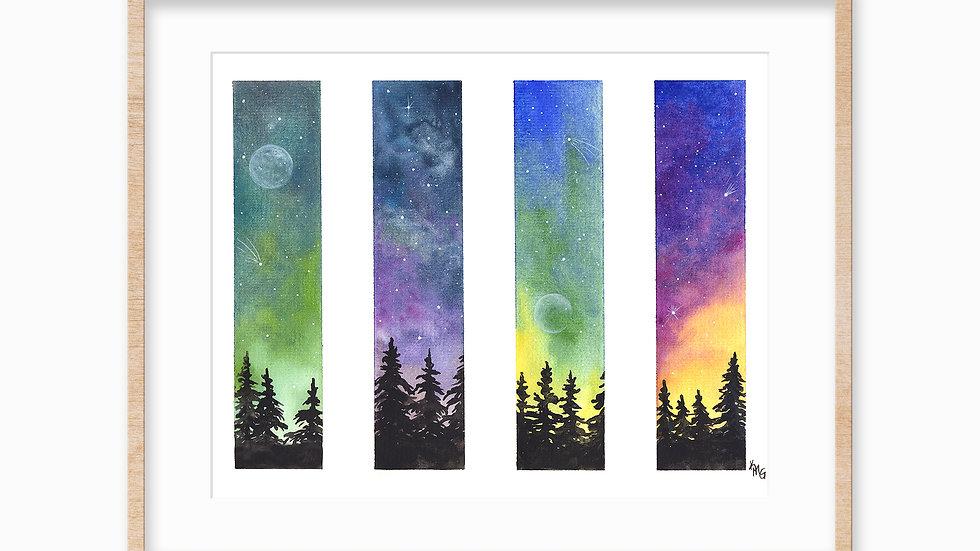 Night Skies - Watercolor Print