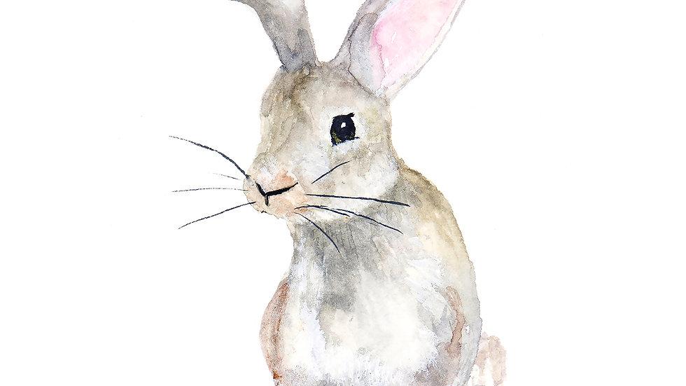 Bunny- Watercolor Print