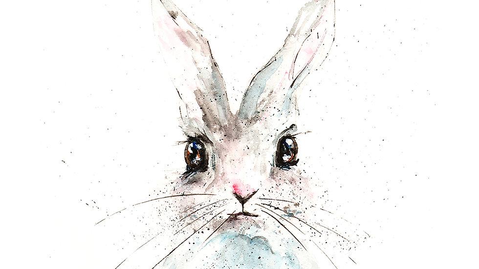 Bunny Face- Watercolor Print