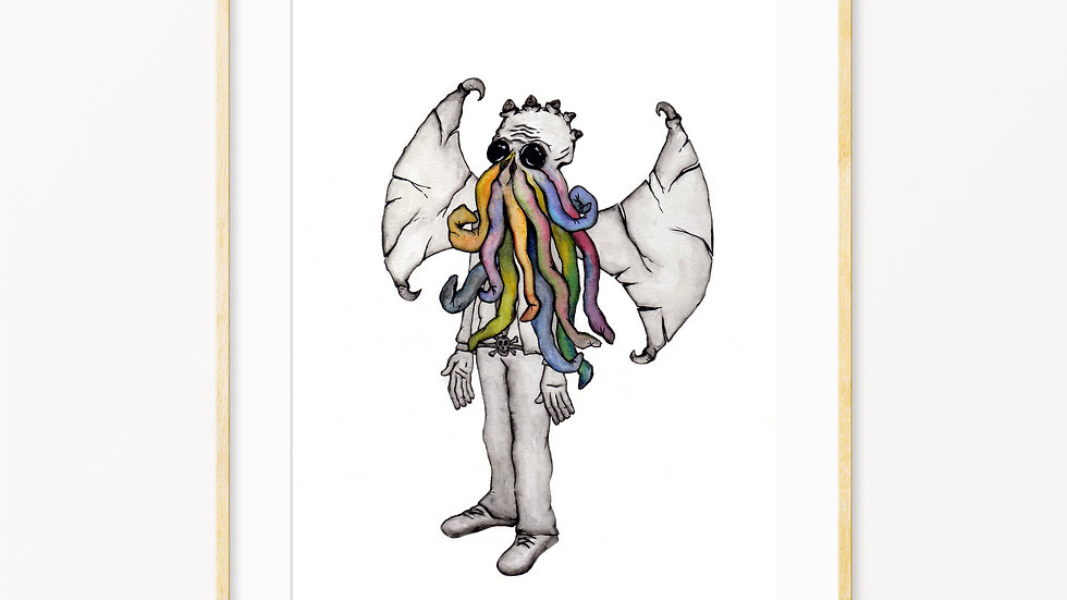 Cthulhu- Watercolor Print