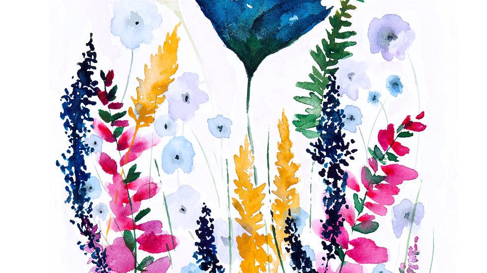 Wildflowers- Watercolor Print