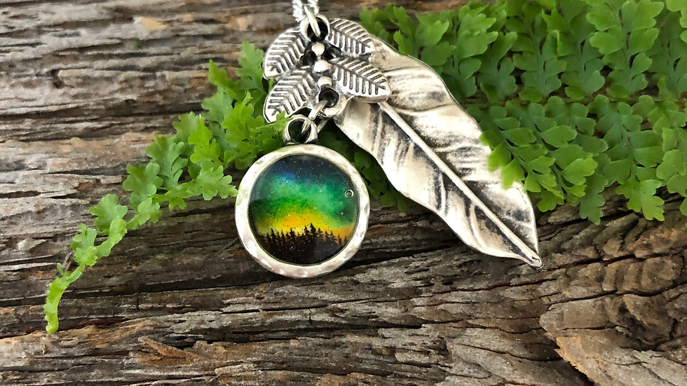 Petite Night Sky with Leaf Charms