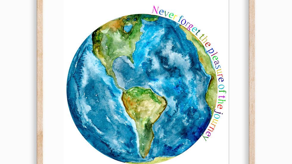 Earth Journey- Watercolor Print