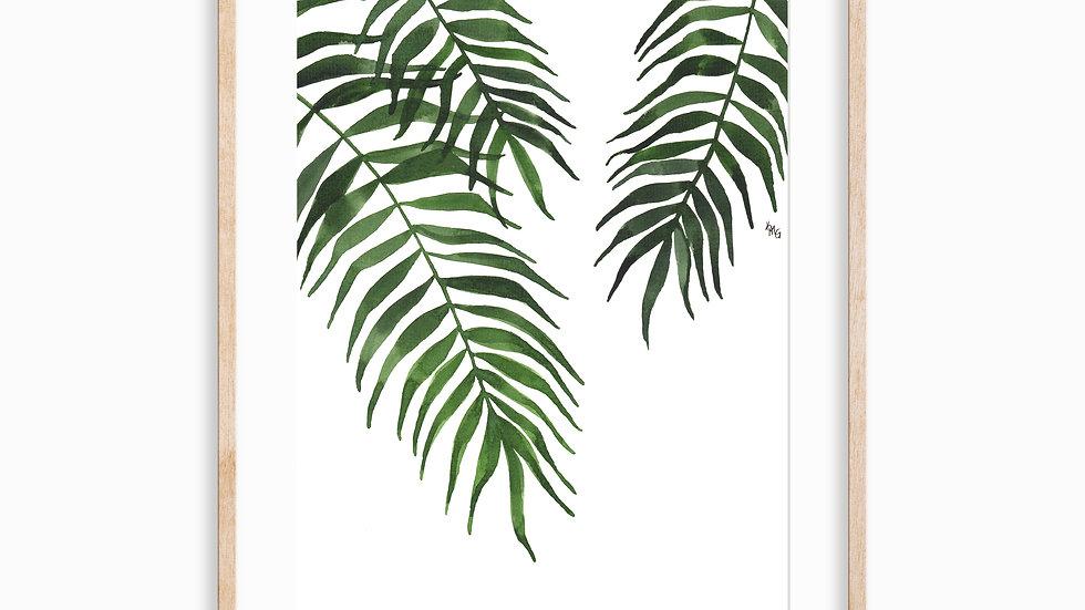 Palm Fronds- Watercolor Print