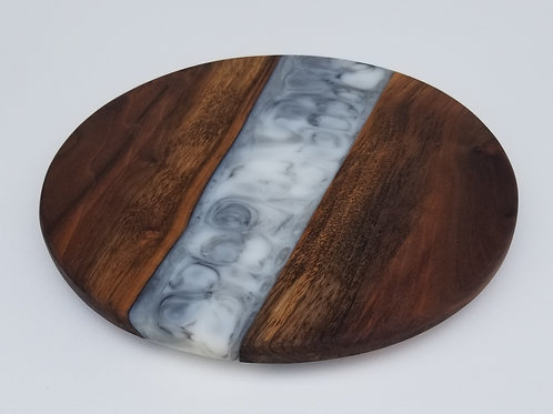 Walnut and Marbled Epoxy Charcuterie Serving Board