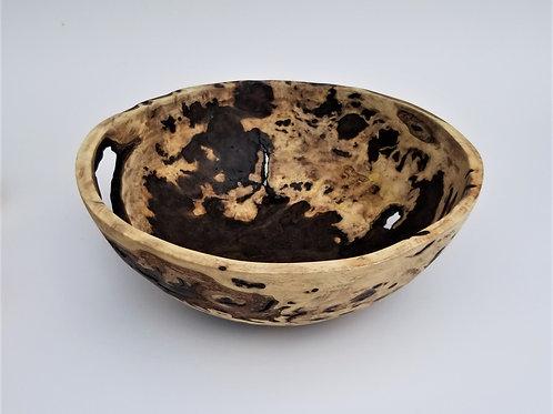 Black Walnut Burl Primitive Wood Bowl