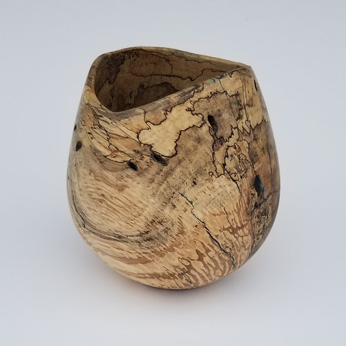 Spalted Maple Natural Edge Hollow Form Vase