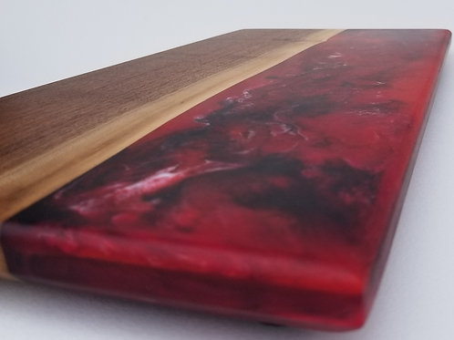 Walnut and Marbled Resin Charcuterie Serving Board