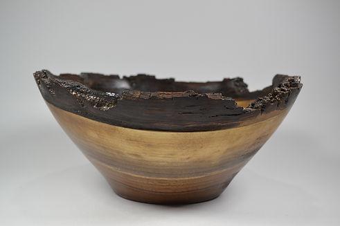 Natural Live edge walnut wood bowl