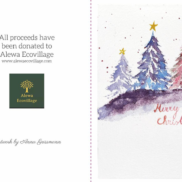 Alewa Ecovillage Christmas Cards