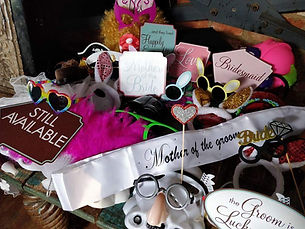 Photo booth props wedding
