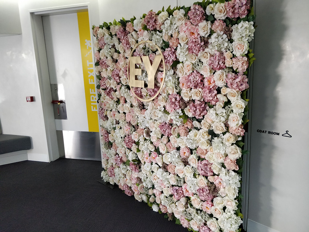 Photo booth flower wall Sandton