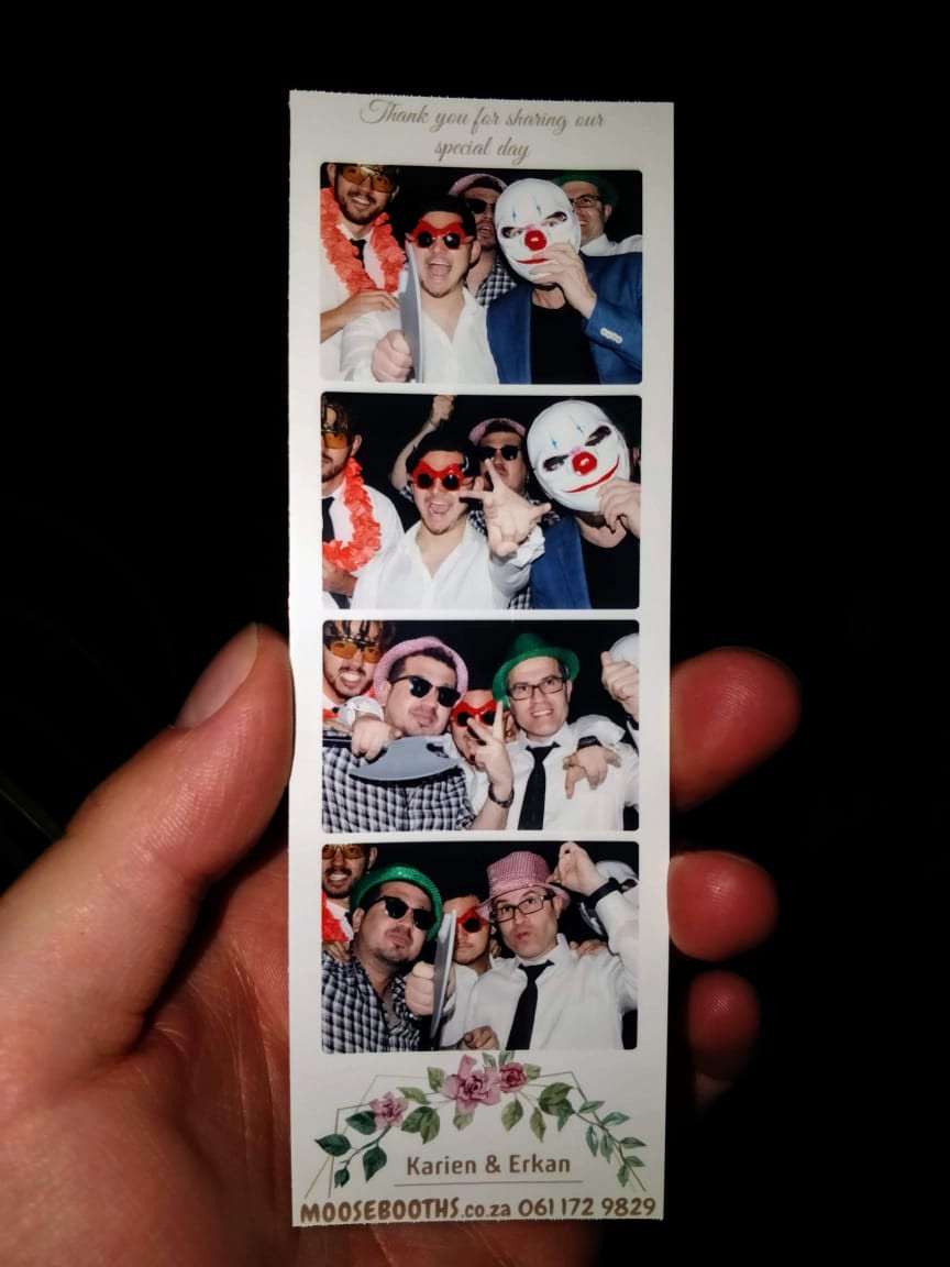 Wedding photo booth strip Muldersdrift