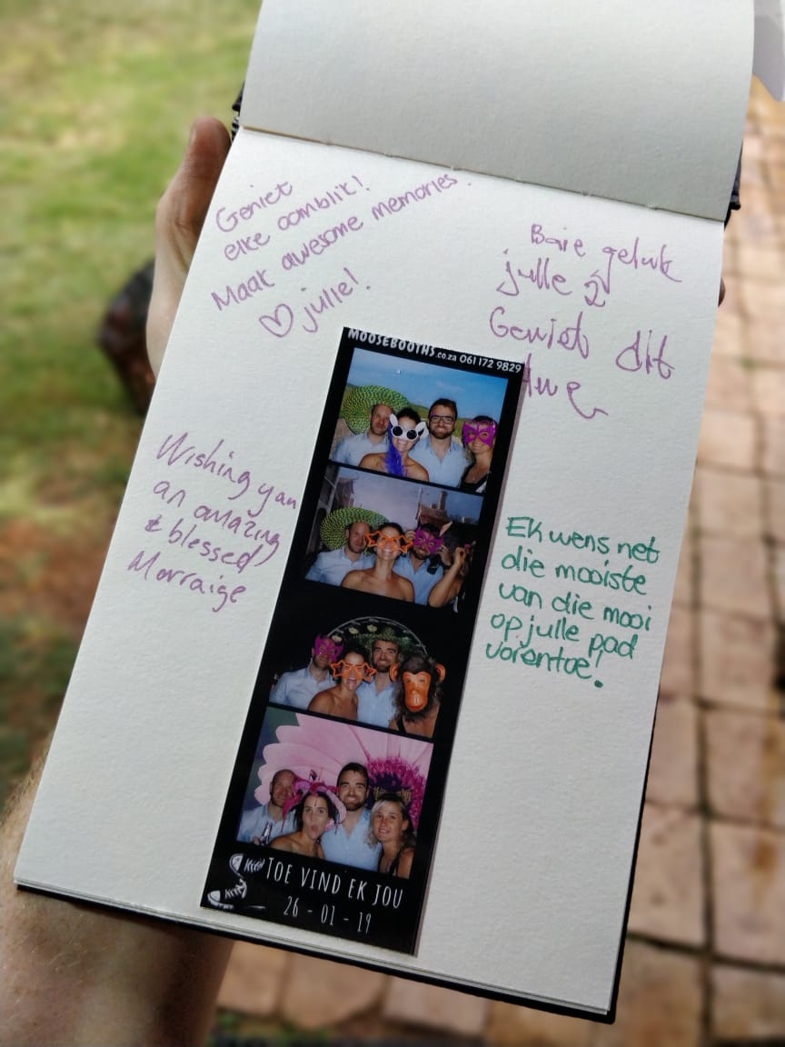Memory book photo booth
