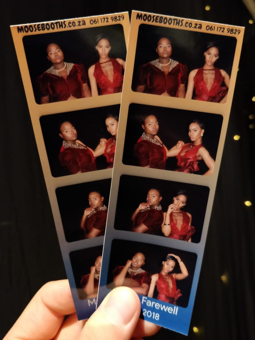 Matric farewell photo booth strip