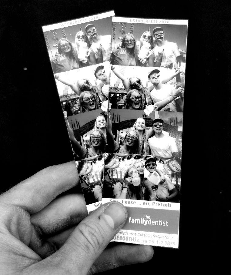 Photo booth black and white Pretoria
