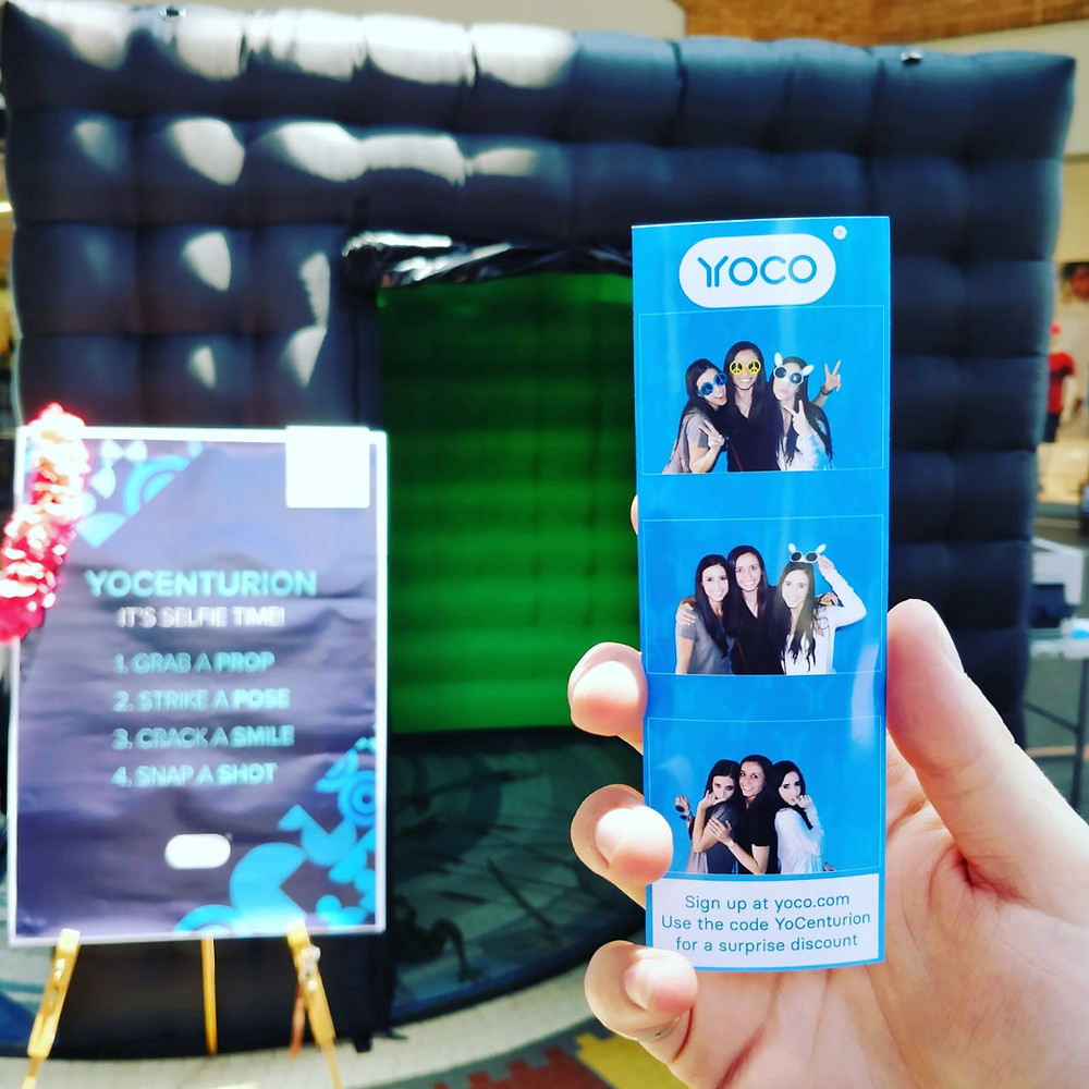 Green screen inflatable photo booth