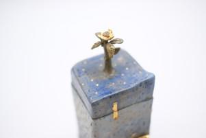 Gold Flower Box/Vase