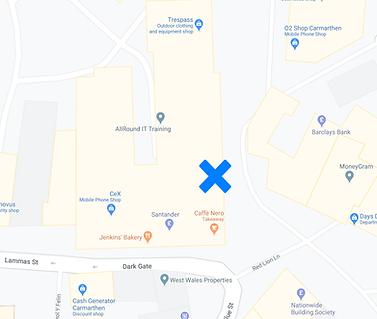 Carmarthen office map