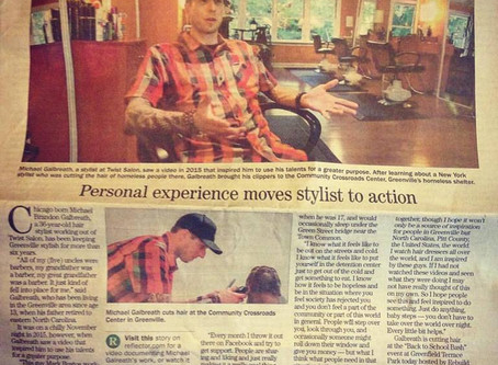 Haircuts for the Homeless (The Daily Reflector)