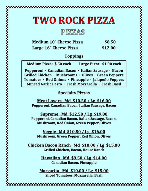 Two Rock Pizza New Menu Feb 2020 All BOL